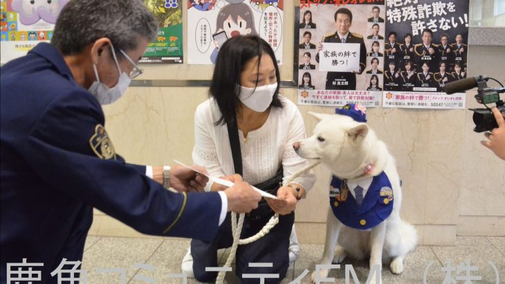 秋田犬の警察官が「昇任」 鹿角の警察署